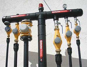 Colectores e hidrantes de polietileno alta densidad