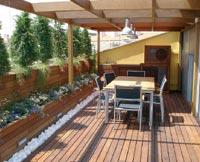 Madera para jardines parques y terrazas mas madera - Fotos de cerramientos de terrazas ...